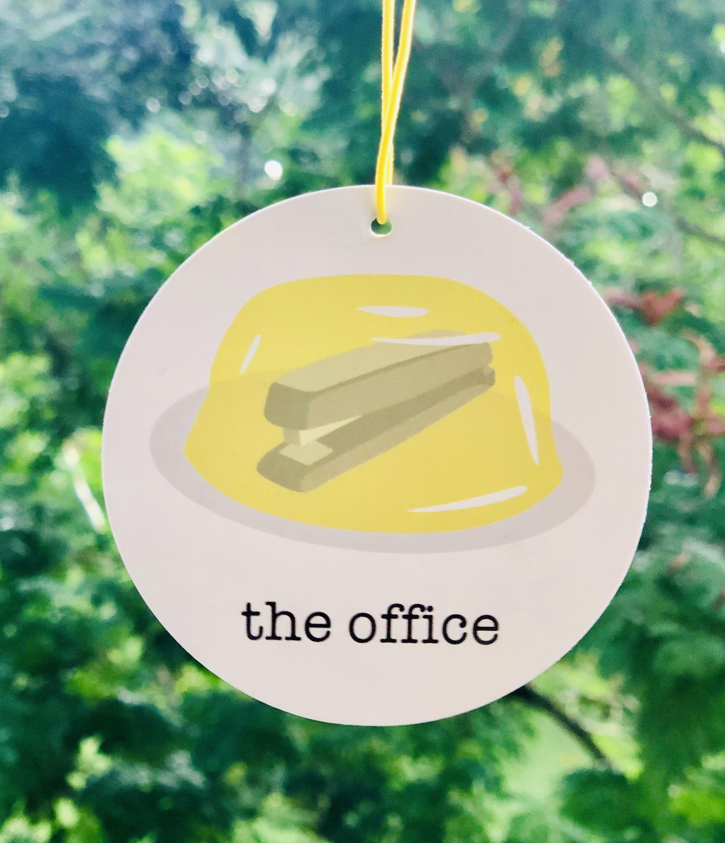 Stapler in Jello Air Freshener the office car freshener