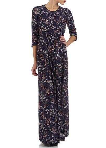 aa90b156f Robe longue imprimé Rochelle Bleu by CLAUDIE PIERLOT | robes hiver ...