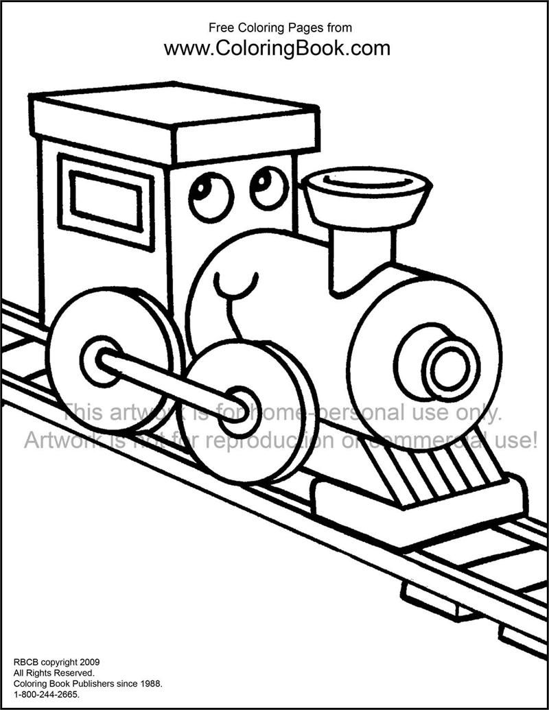 train coloring book pages - Train Coloring Book