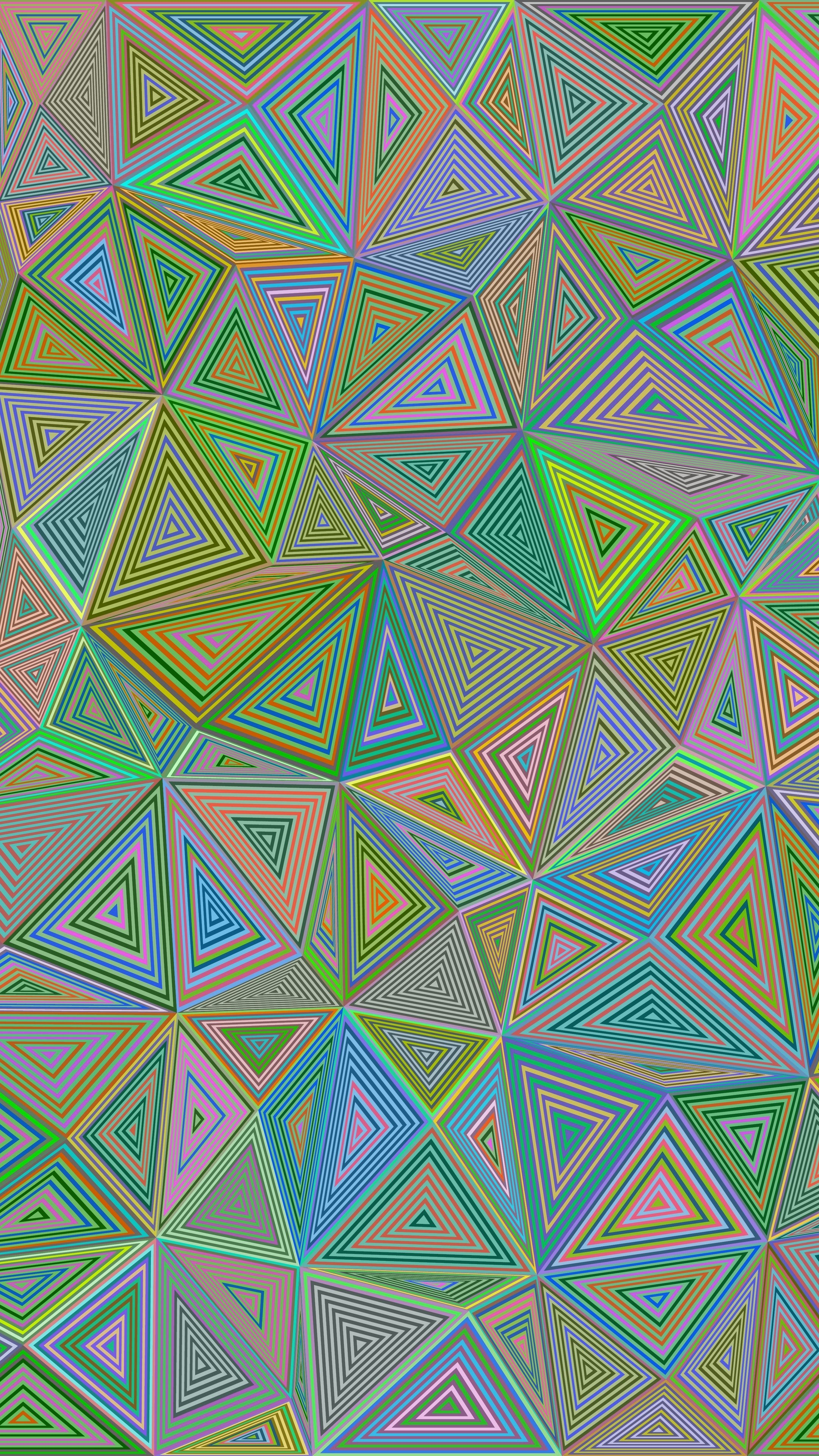 Abstract Polygon Triangle Illusion Geometric Wallpapers Hd 4k