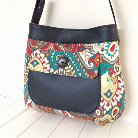 Handbag Faux Leather Fabric Bag Thistle Pocket Tote Vegan