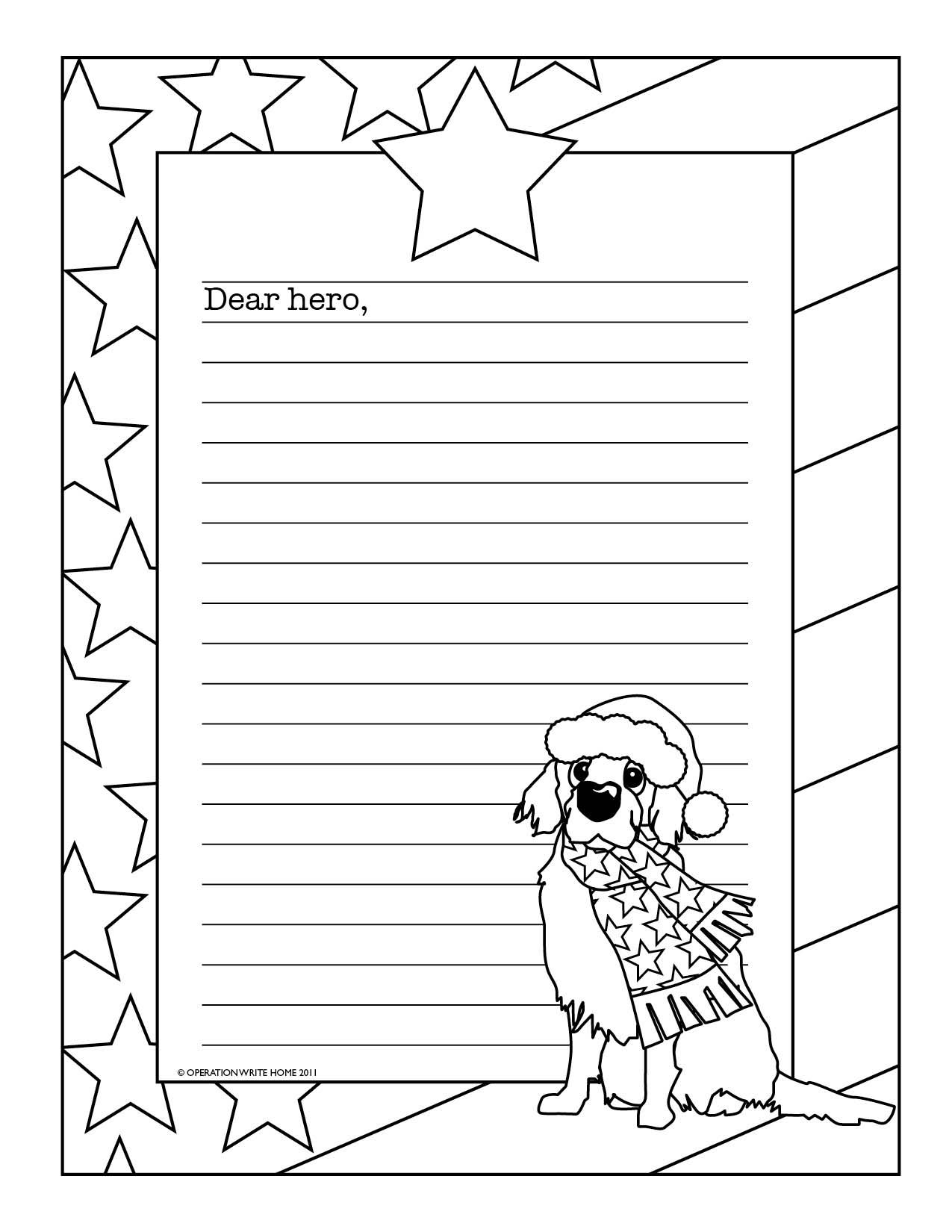 Christmas Wish List Coloring Page