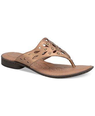 afa62c2b1 Born Akala Thong Sandals leather bronze