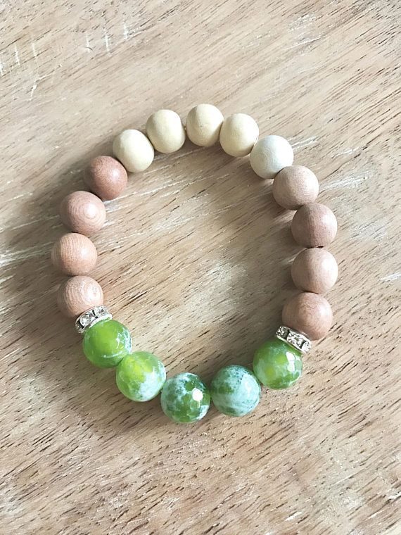 Cracked Candy Green Diffuser Bracelet
