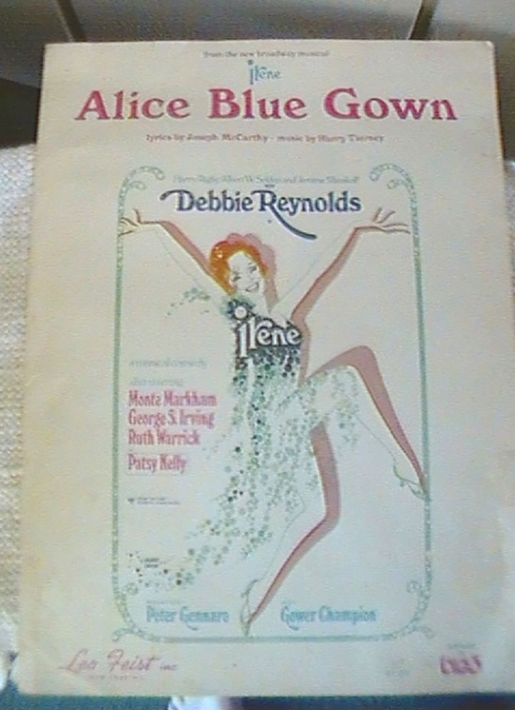 Sheet music Alice Blue Gown From the Musical Play \