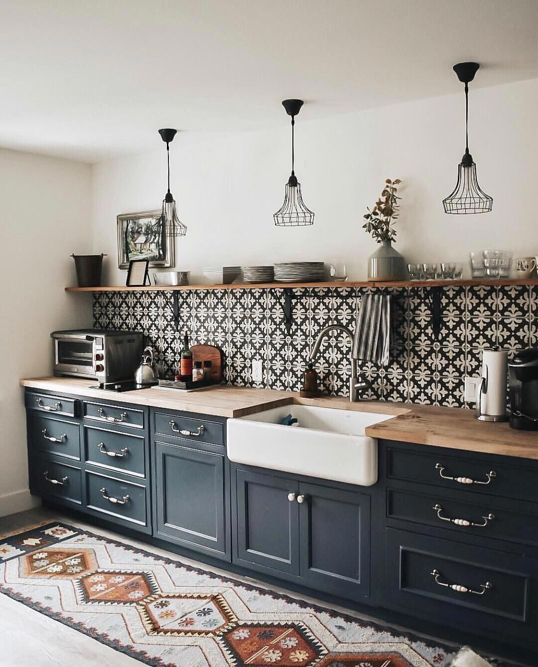 Blue kitchen: 20+ color decoration inspirations en 20  Idee