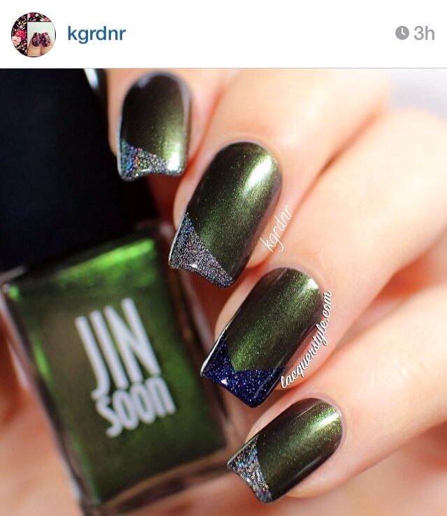 Chrome and holographic tips nails | Nails | Pinterest | Holographic ...