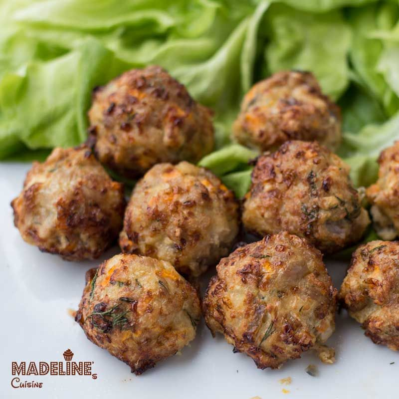 Chiftelute de pui la Airfryer / Airfryer chicken meatballs