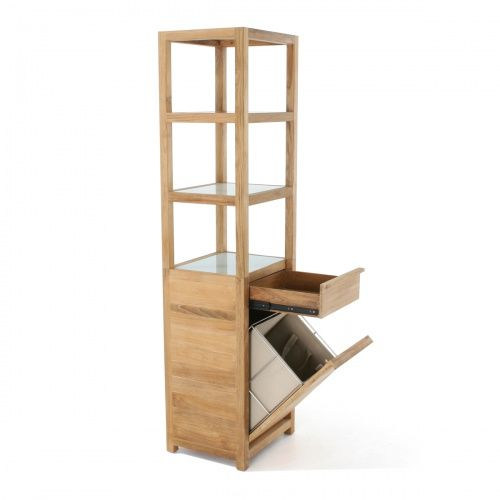 Pacifica Teak Laundry Hamper And Shelf Laundry Hamper Teak
