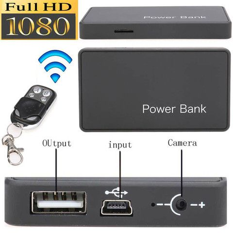 Power Bank Hidden Camera 1080p Resolution With Remote Control Hidden Camera Camera Spy Gadgets