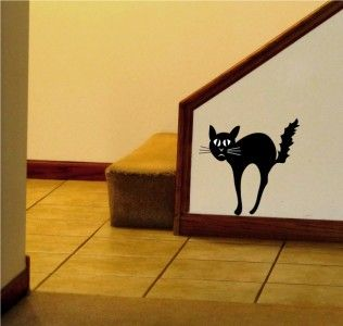 Black Cat Vinyl Decal Perfect For Halloween Its All About - Vinyl decal cat pinterest