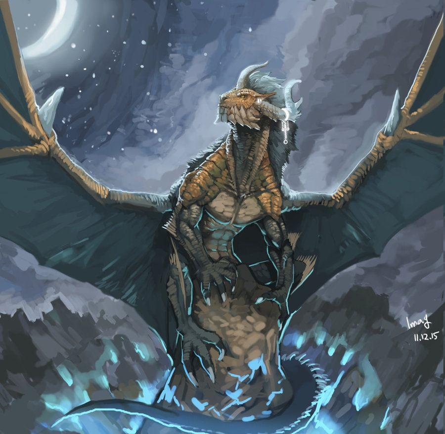 Full Moon Dragon: Moon Dragon By Pacelic__The Moon Had Been Full That Night