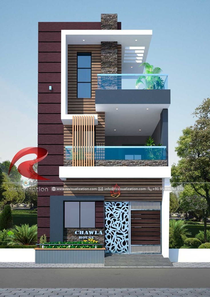 Flat House Design 3d Narrow House Designs Gallery Rc