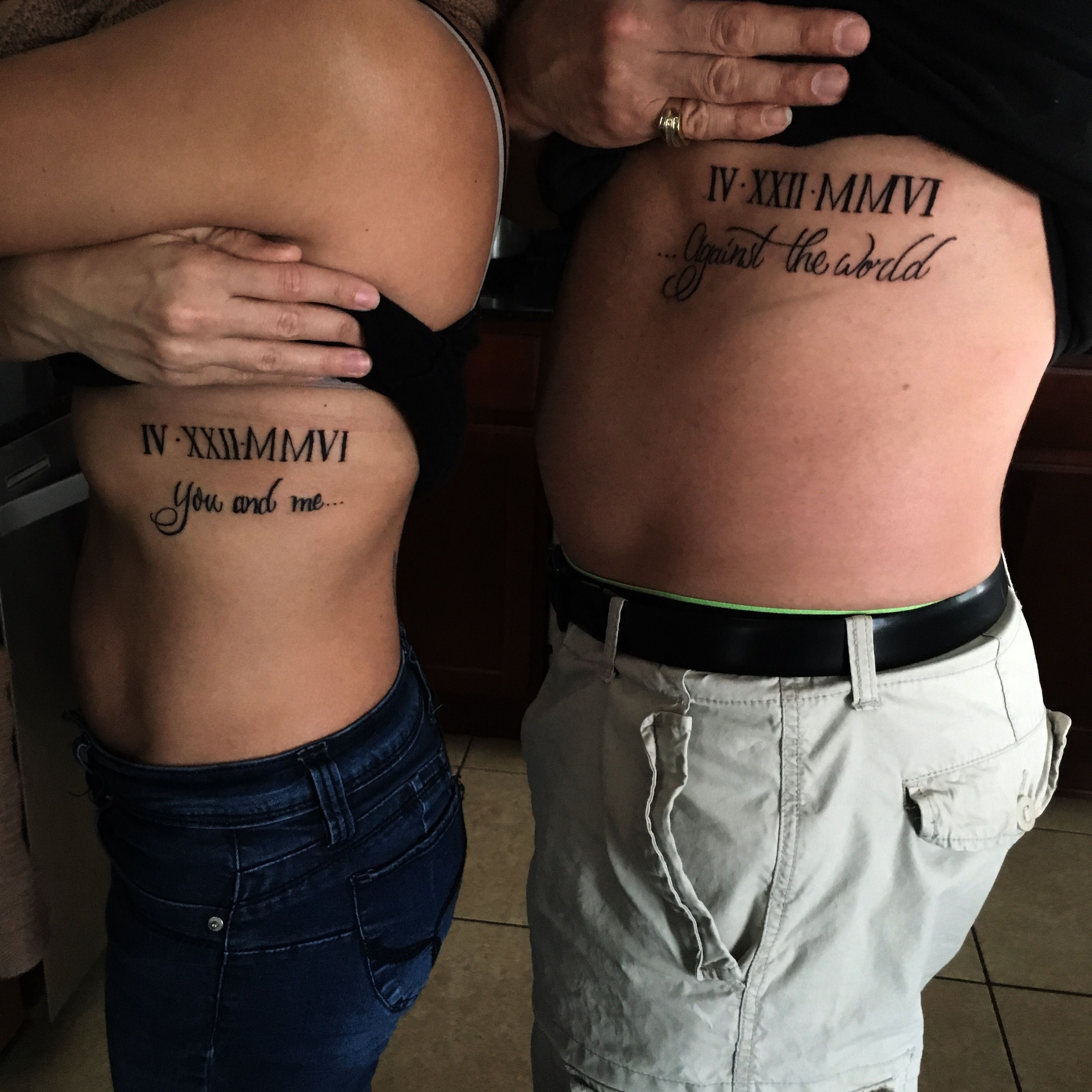 Couples Tattoo You And Me Against The World Me Against The W