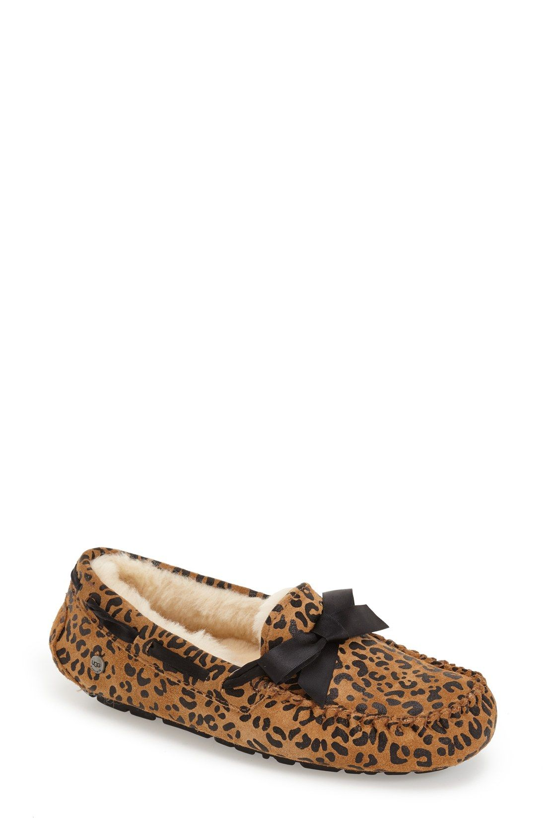UGG® Australia 'Dakota' Leopard Print Bow Slipper (Women)