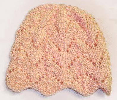 Free Knitting Pattern For Ripple Eyelet Baby Hat Stitch Little