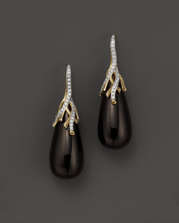 Michael Aram 18K Yellow Gold Wisteria Drop Earrings with Smoky Quartz and Diamonds | Bloomingdale's