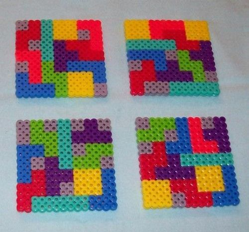 perler bead lego coasters diy hama pinterest hama perles et perles hama. Black Bedroom Furniture Sets. Home Design Ideas