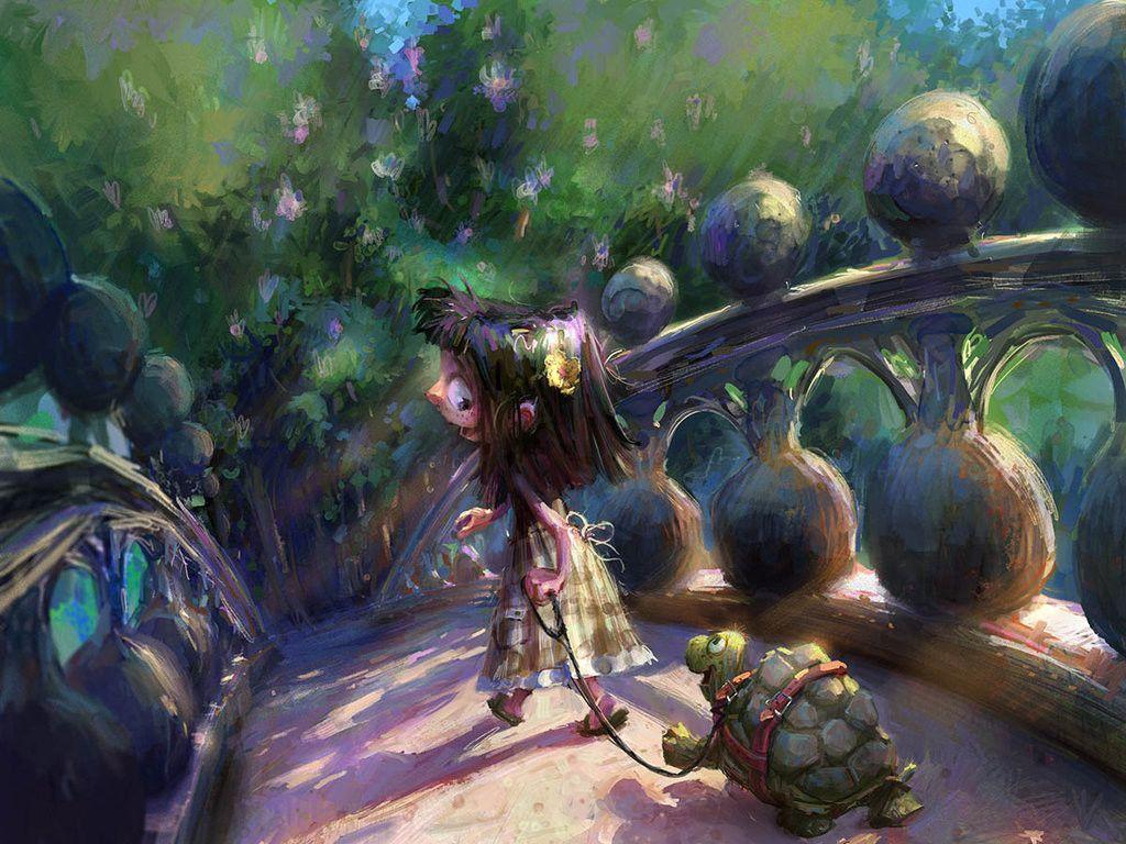 Turtles Need Walks Too, Marco Bucci on ArtStation at https://www.artstation.com/artwork/wvOX9