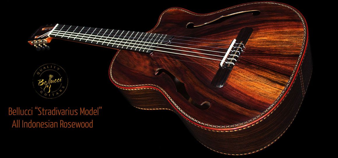 Indonesian Rosewood Back Sides Top Stradivarius Model Double Top Concert Classical Guitar Guitar Classical Guitar Guitar Building