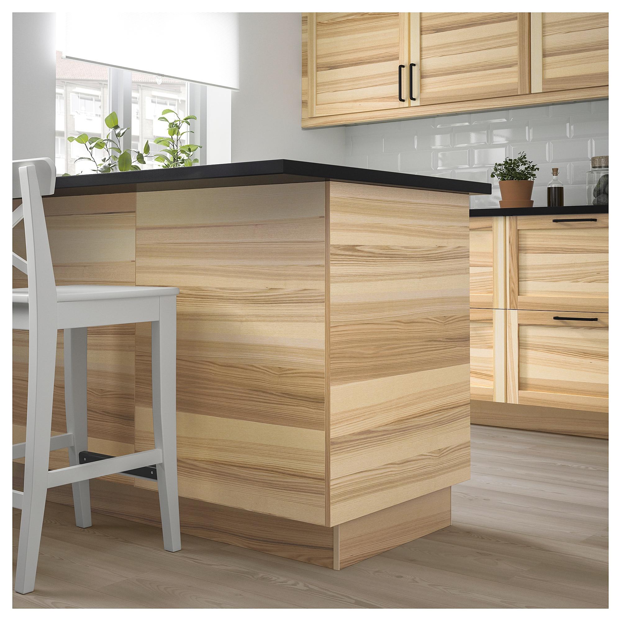 Torhamn Cover Panel Natural Ash Ikea Cottage Kitchen Design Cottage Kitchen Ikea