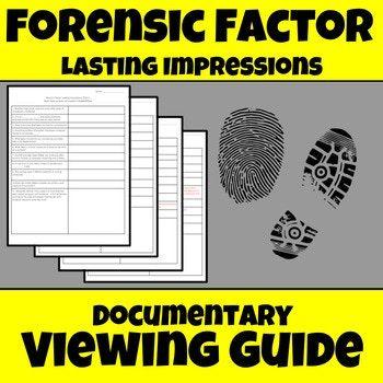 Forensic Science Fingerprint Documentary Worksheet Middle School Science Resources Middle School Science Teacher Science Teaching Resources