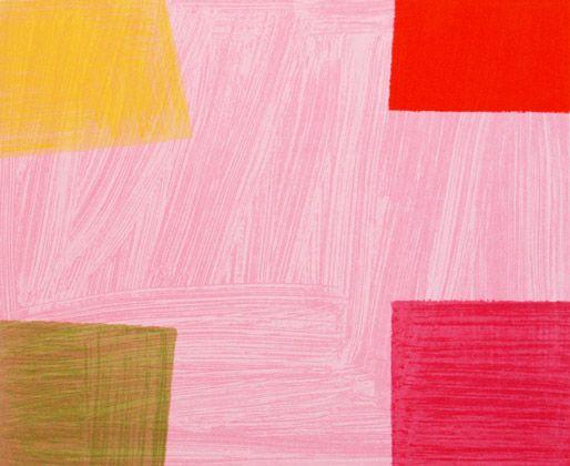 Mali Morris RA, Ruby Tuesday, 2011, Screenprint,  © The Artist