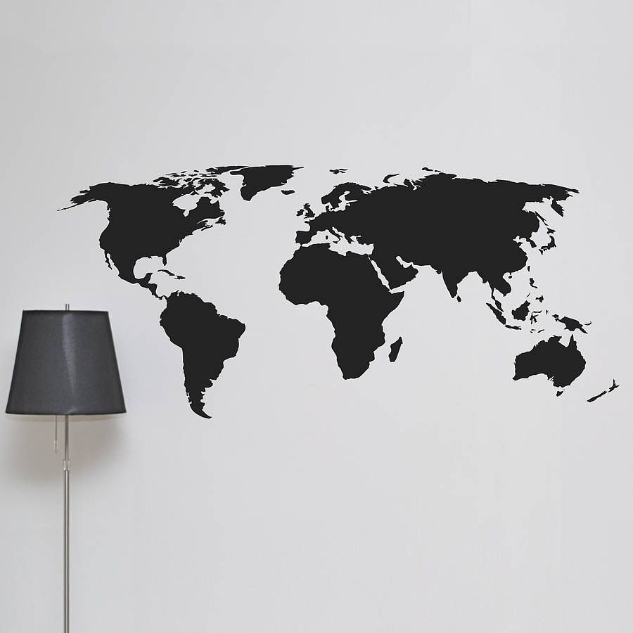 World map wall sticker wall sticker walls and interiors world map wall sticker gumiabroncs Image collections