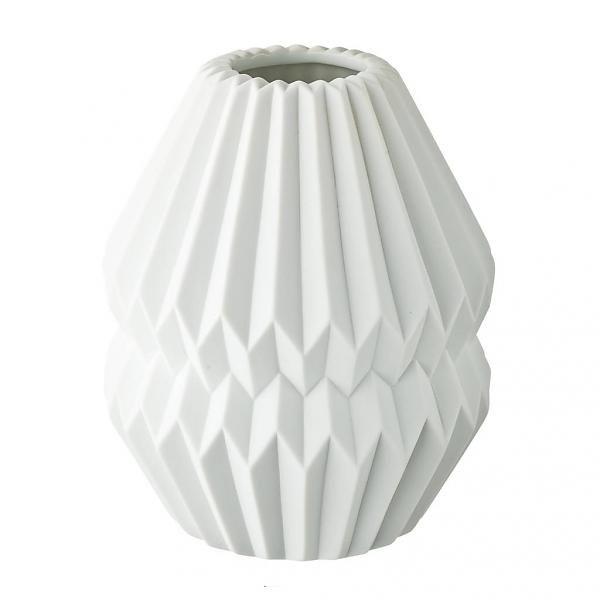 Origami Vase groß weiß
