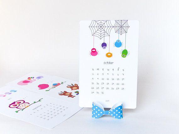 2018 Printable Desk Calendar Diy Animal Calendar Cute Illustrated