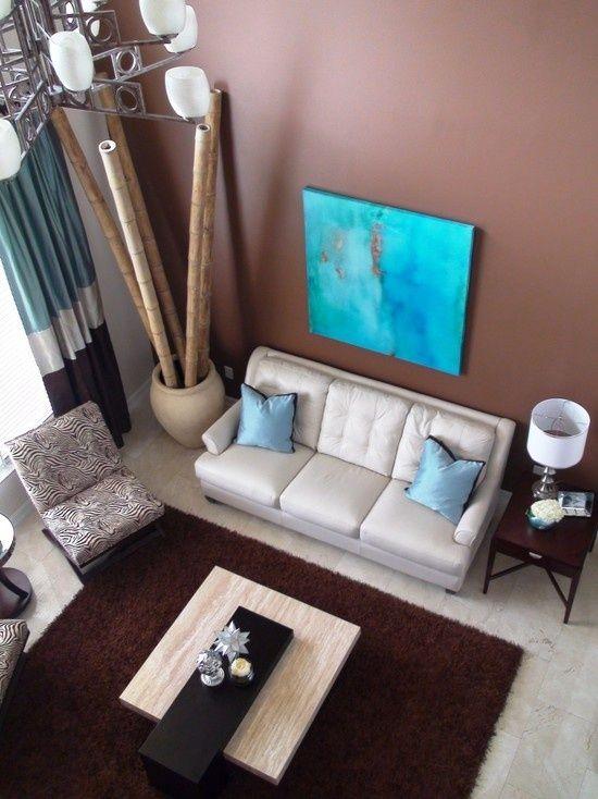 ideen bambusstangen deko wohnzimmer große vase ecke Bilder