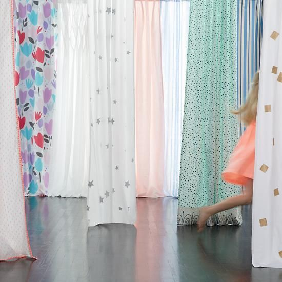 Bedrooms · Silver Star Curtain Panels | The Land Of Nod