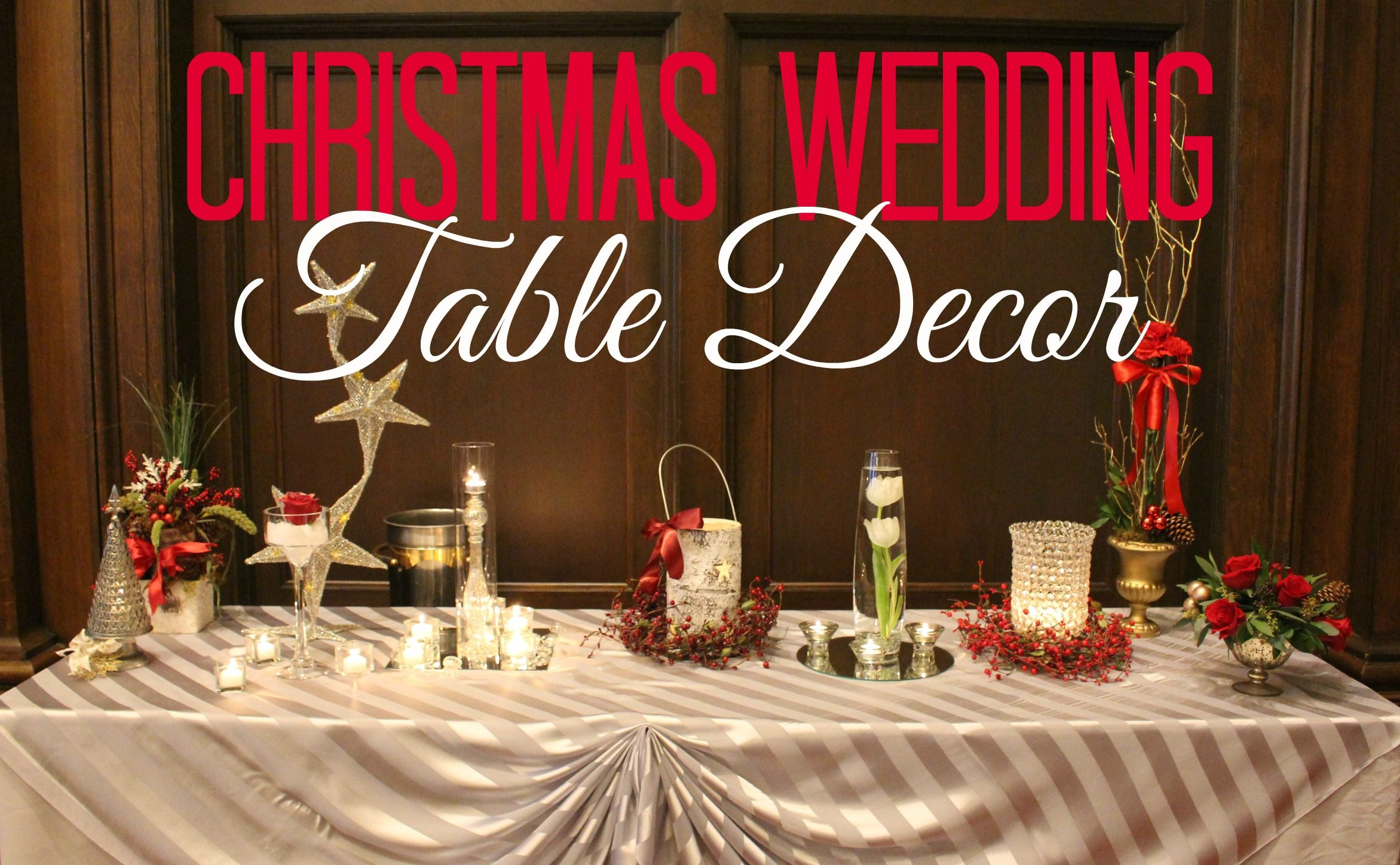 Christmas Wedding Table Decor