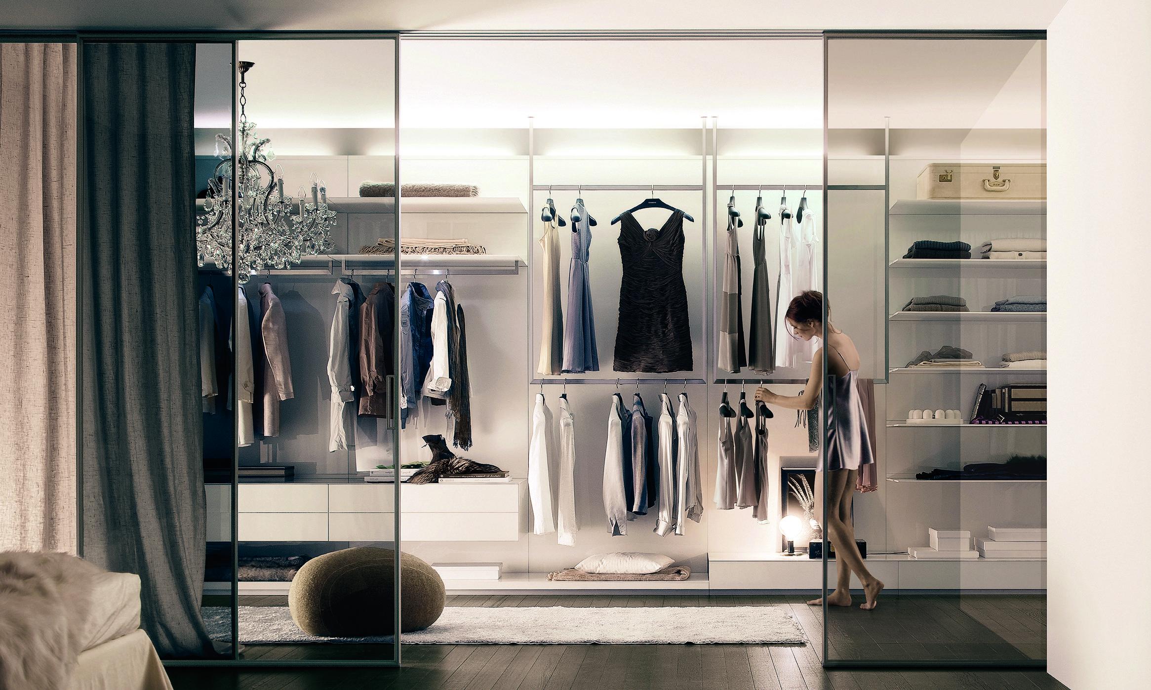 Дизайн шкафа и гардеробной в интерьере.