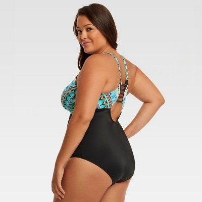 1d8deb13ca4 Beach Betty by Miracle Brands Women s Plus Size Slimming Control Palm One  Piece Swimsuit - Palm Print