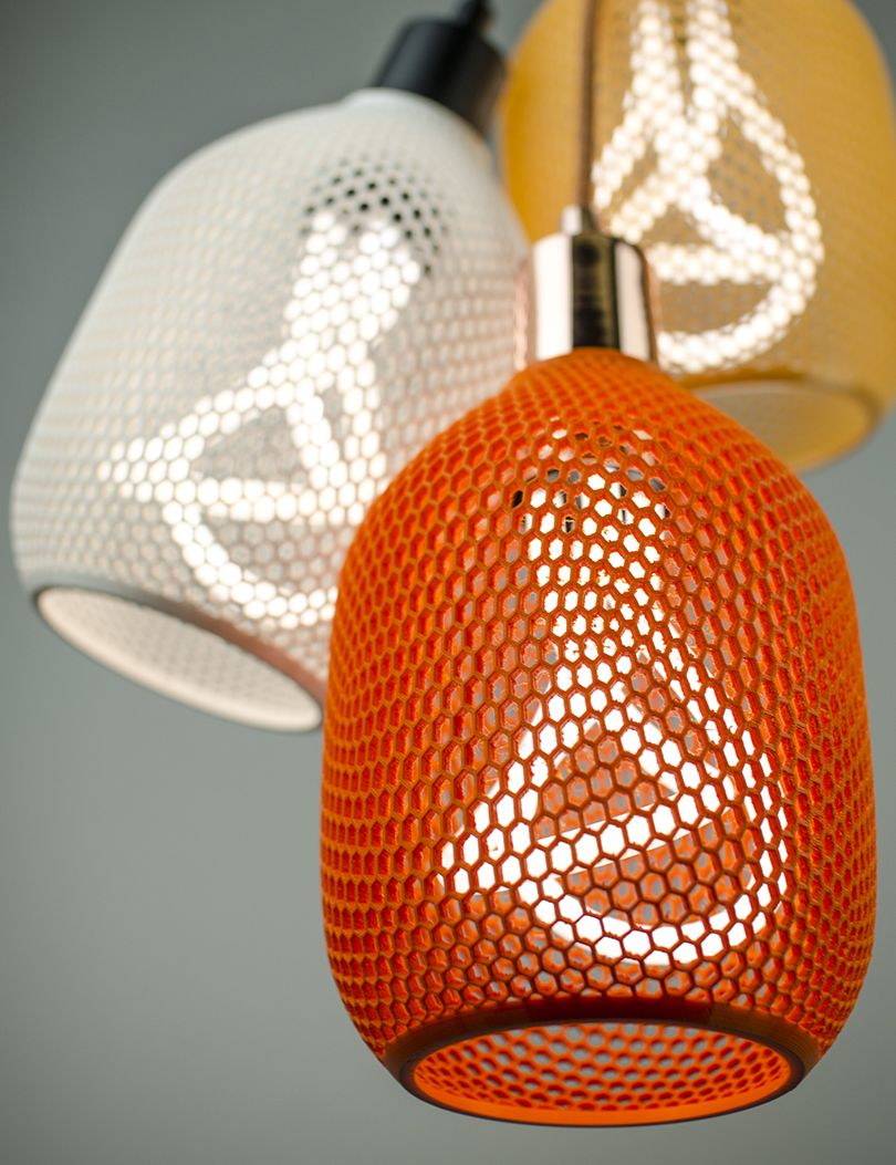 Hive A Biodegradable 3d Printed Shade By Plumen Plumen Design Milk Honeycomb Shades
