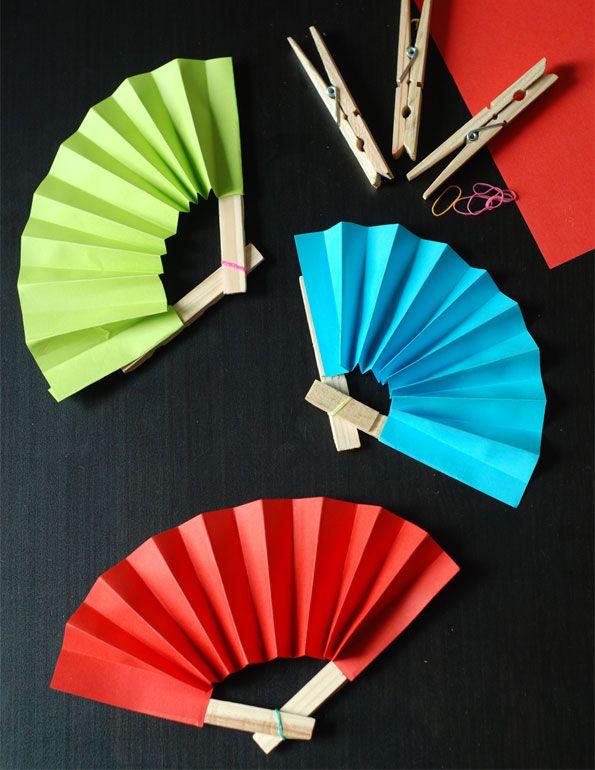 Abanicos de papel super divertidos ideas de papel - Como hacer un abanico ...