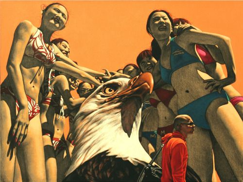 Paintings by Zhong Biao Zhong Biao (previously) born 1969 is one of the most