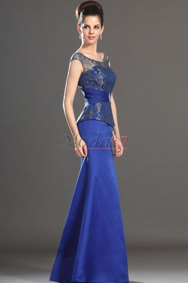 8b1d3f331 Vestidos azul rey largos con encaje - Vestidos verano