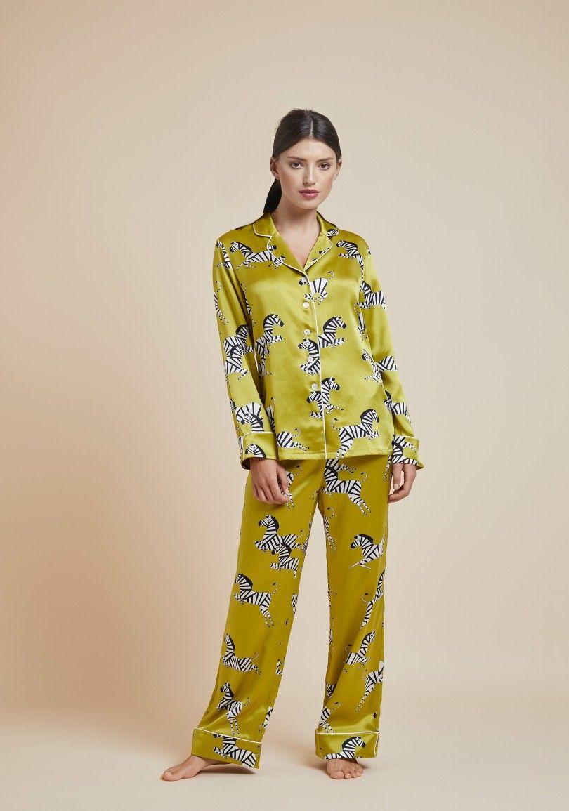 daa9fd3b25 OLIVIA VON HALLE The Lila Zadie Luxury Silk Pyjama in Zebra Print  495 4