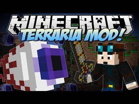 Minecraft Terraria Mod Eye Of Cthulhu Excaliber Obsidian