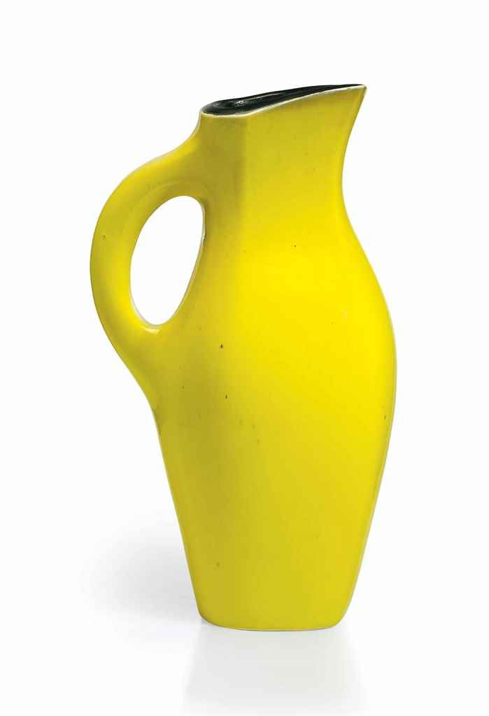 GEORGES JOUVE (1910-1964) A PITCHER, 1950S glazed ceramic 13 ¼ in. (33.5 cm.) high signed Jouve with artist's cipher