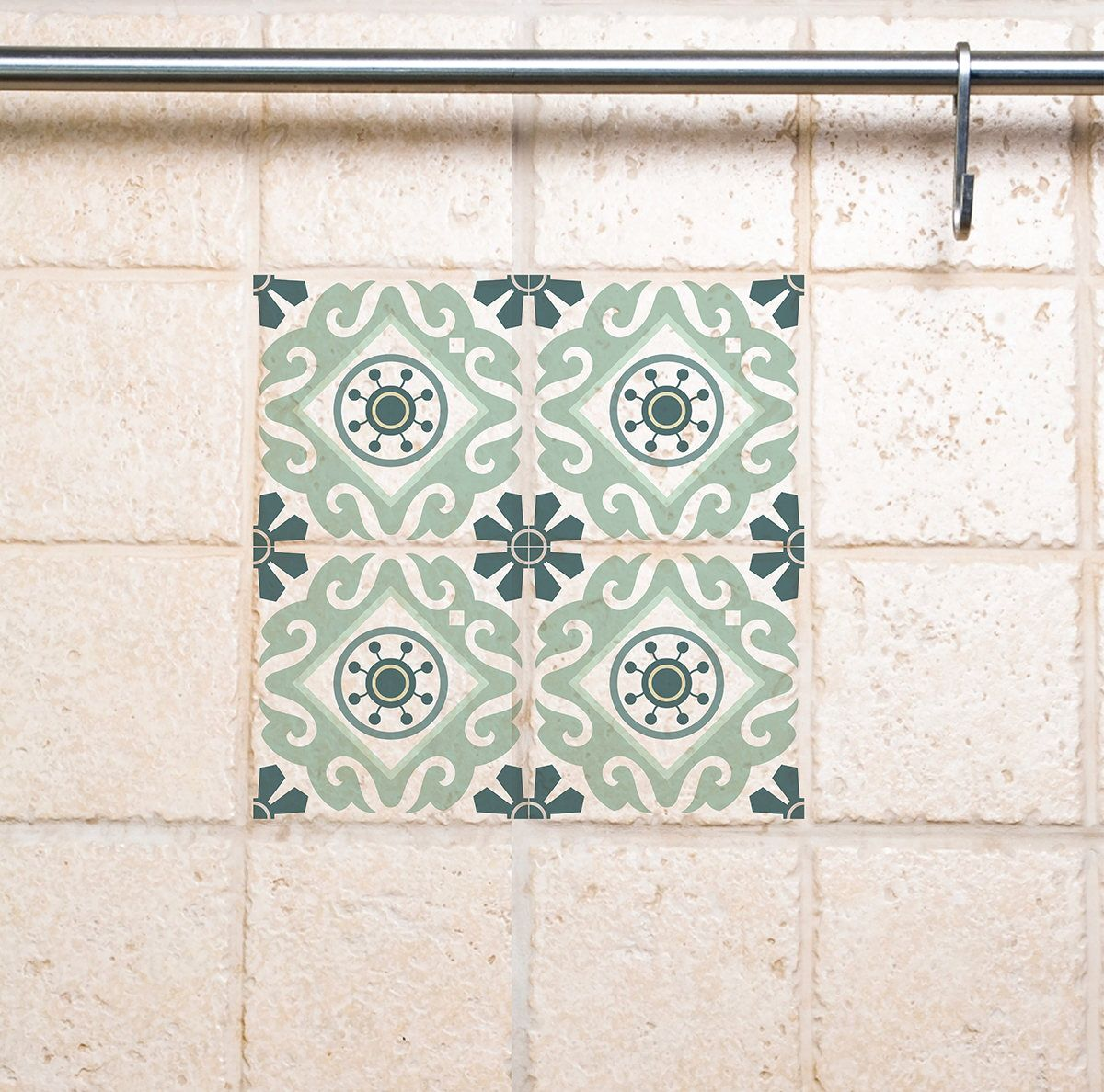 Tile Wall Decals, Traditional Tiles Stickers, Tiles Decals, Tiles ...