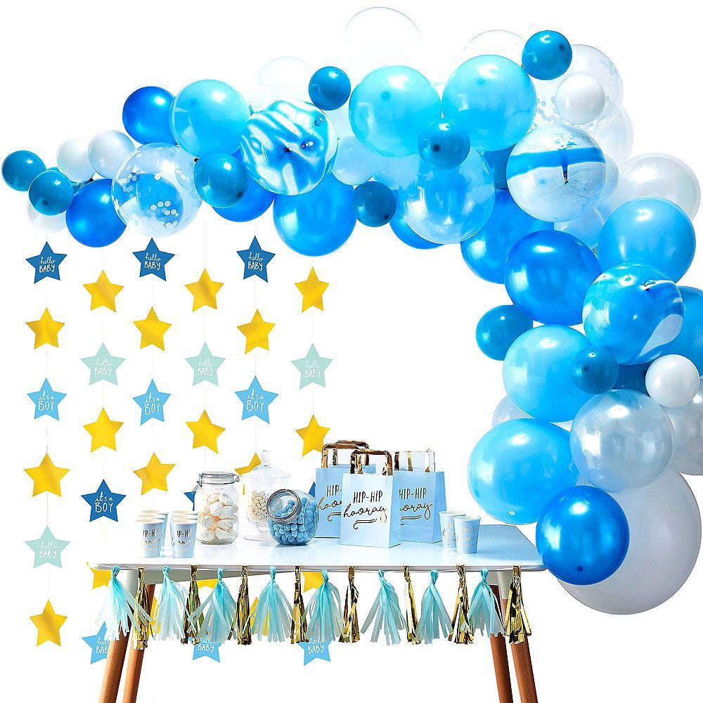 Blue & Metallic Gold Oh Baby Boy Balloon Arch Kit 3pc | Party City #balloonarch Blue & Metallic Gold Oh Baby Boy Balloon Arch Kit 3pc | Party City #balloonarch