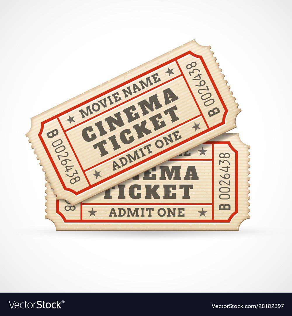 Cinema Tickets Royalty Free Vector Image Vectorstock Ad Royalty Tickets Cinema Free Ad Cinema Ticket Cinema Movie Tickets