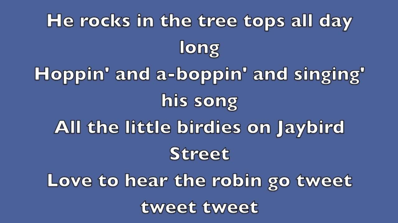 Rockin Robin Michael Jackson Lyrics With Images Michael
