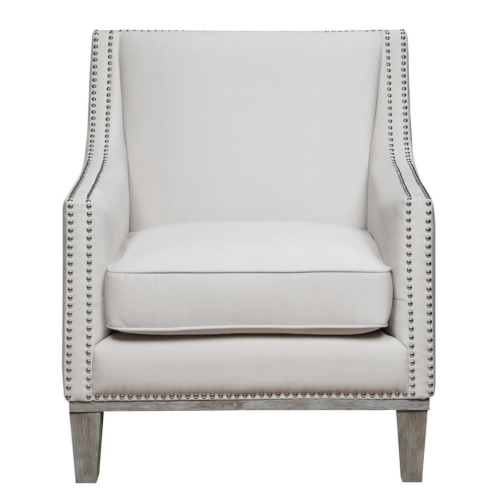 Element International Aster Snow Accent Chair Armchair Accent