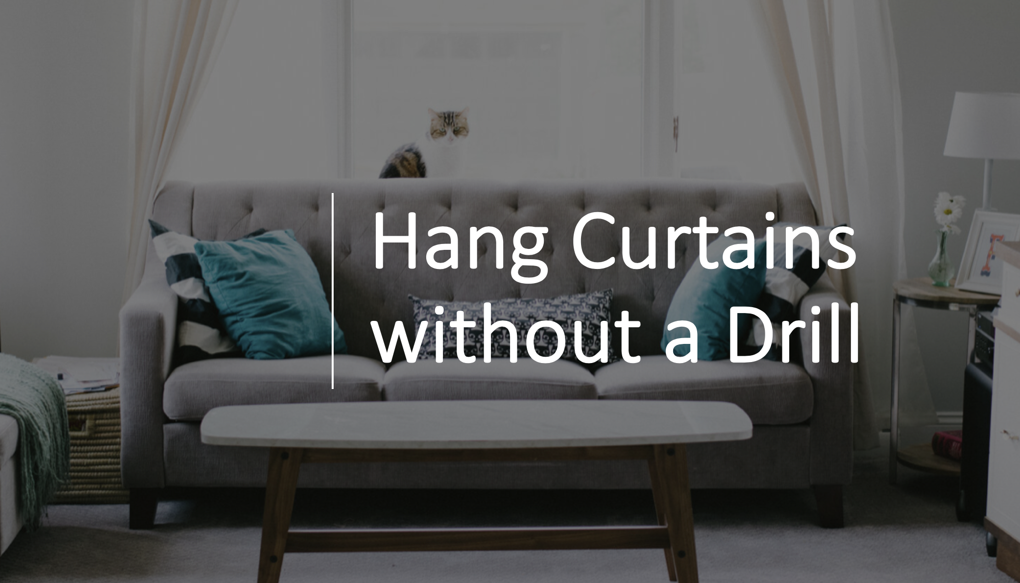 Hang Curtains Without A Drill In 2020 Hanging Curtains