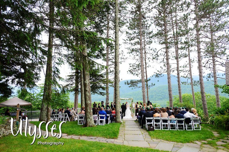 Top Upstate Ny Wedding Venue Onteora Mountain House View Pine Trees