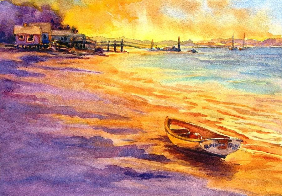 Watercolor Painting - All Ashore Thats Going Ashore by Virgil Carter